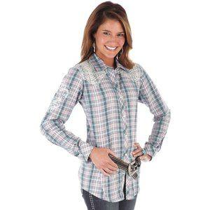 Wrangler Womens POPPY Long Sleeve - Turquoise